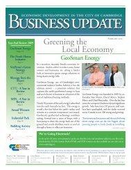 Greening the Local Economy - GSE Spotlight - GeoSmart Energy