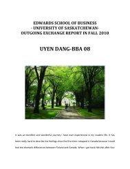 outgoing exchange report in fall 2010 uyen dang-bba 08 - Arcada