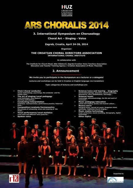 3. International Symposium on Chorusology 2 ... - David M Howard