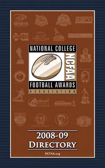 2008 NCFAA Directory - National College Football Awards Association