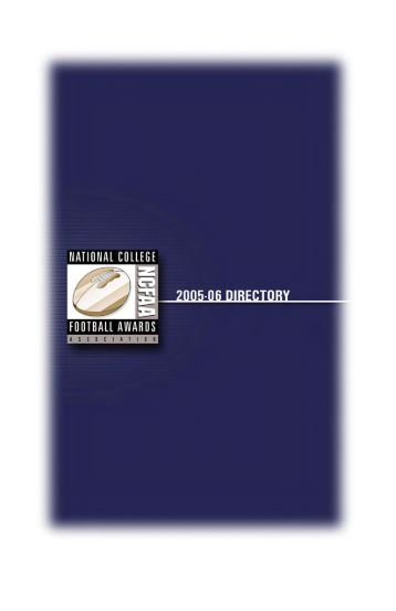 2005 NCFAA Directory - National College Football Awards Association