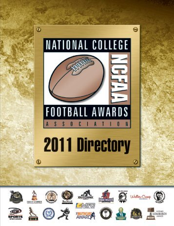 2011 NCFAA Directory - National College Football Awards Association