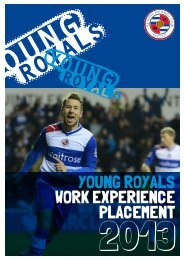 YOUNG ROYALS WORK EXPERIENCE PLACEMENT - Reading FC