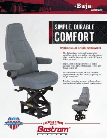 simple, durable comfort... baja - Commercial Vehicle Group, Inc.