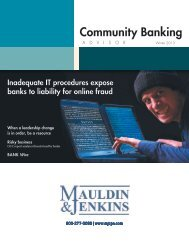Community Banking Advisor Winter 2013