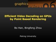 Efficient Video Decoding on GPUs by Point Based Rendering ...