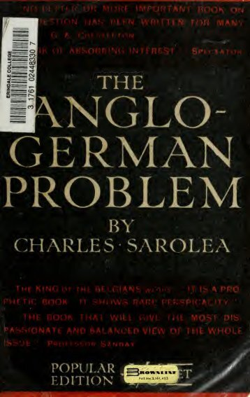 The Anglo-German problem - Scholars Portal