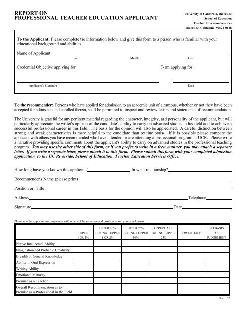 Form For Letter Of Recommendation from img.yumpu.com