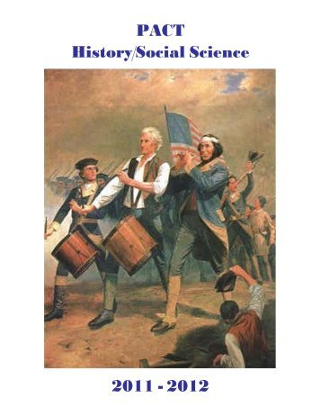 PACT History/Social Science 2011 - 2012 - Graduate School of ...