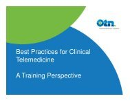 Best practices for clinical telemedicine - training perspective