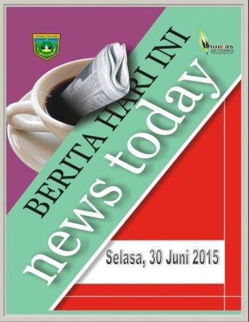 Kliping Berita Padang Panjang Hari Selasa Tanggal 30 Juni 2015
