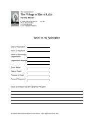 Grant in Aid Application Form - Burns Lake
