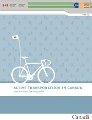 Active Transportation in Canada: a resource and planning guide