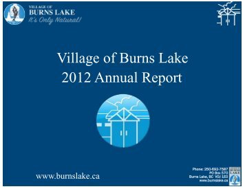 2012 Annual Report Final - Burns Lake