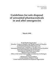 Guidelines for safe disposal of unwanted ... - Drug donation