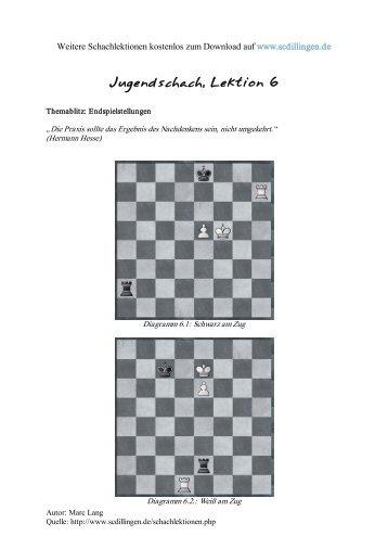 Jugendschach - Kompletter Schachkurs für Jugendliche, Lektion 6