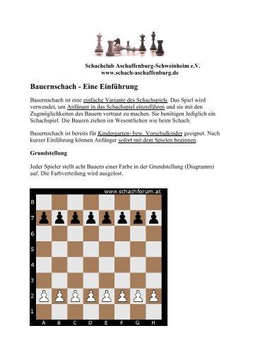 Bauernschach - Schachclub Aschaffenburg-Schweinheim eV