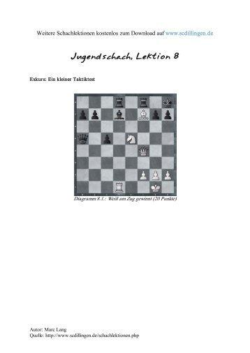 Jugendschach - Kompletter Schachkurs für Jugendliche, Lektion 8