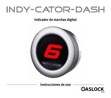 Indicador de marchas digital Instrucciones de uso - Indy-Cator