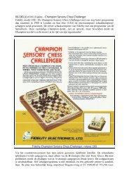 09-1981 [O-0301] Fidelity - Champion Sensory Chess Challenger ...