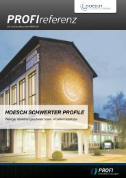 HOESCH SCHWERTER PROFILE - PROFI Engineering Systems AG