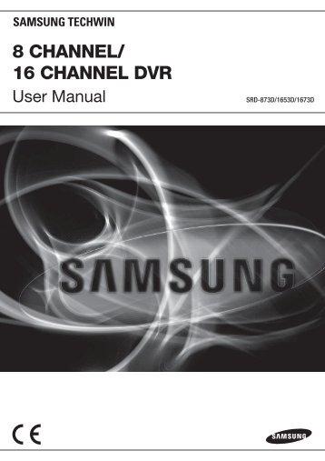 User Manual-SRD-1673D-ENGLISH_Web-.indb - Dynamic CCTV