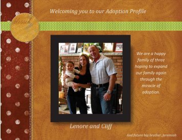 Lenore and Cliff - The Adoption Alliance
