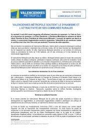 valenciennes métropole soutient le dynamisme et l'attractivité de ses ...