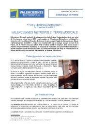 valenciennes metropole, terre musicale - Valenciennes Métropole