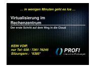 virtualisierung im rz / cloud computing - PROFI Engineering Systems ...