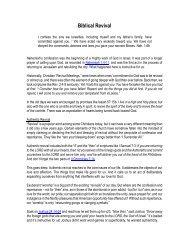 Biblical Revival - John2031.com