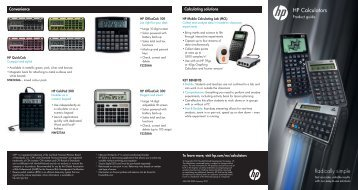 HP Calculators Radically simple - Multitech