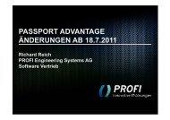 Auswirkungen auf Ihr Unternehmen - PROFI Engineering Systems AG