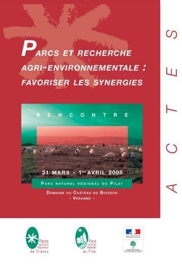 Actes2005 24/02/06 18:19 Page 1 - Fédération des Parcs Naturels ...
