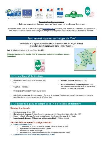 Fiche Parc naturel régional Vosges du Nord - Fédération des parcs ...
