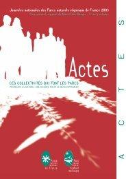 Actes JN 2003 - Fédération des parcs naturels régionaux de France