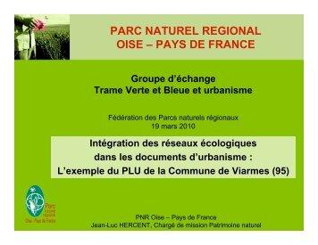 Présentation PLU Viarmes - Fédération des Parcs Naturels Régionaux
