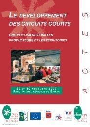 actes-circuits courts brière.indd - Fédération des Parcs Naturels ...
