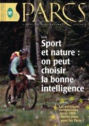 Revue Parcs 51 - p. 1 à 13 - Fédération des Parcs Naturels Régionaux