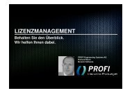 LIZENZMANAGEMENT - PROFI Engineering Systems AG