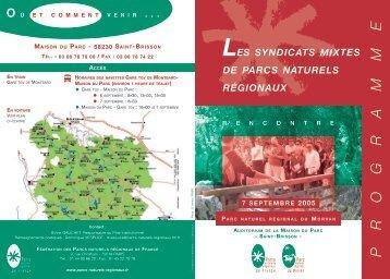 P R O G R A M M E - Fédération des Parcs Naturels Régionaux