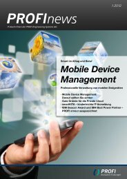 Mobile Device Management - PROFI Engineering Systems AG