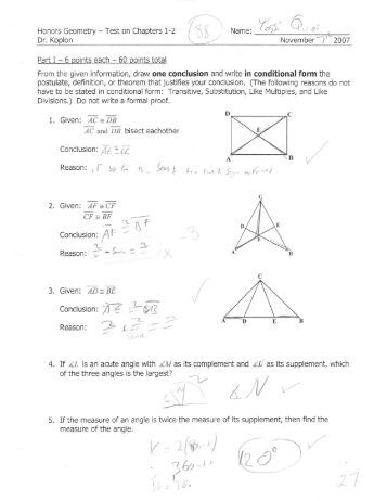 first semester test- chapters 1+2 - Ramaz Help
