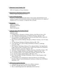 1. Department, Course Number, Title ORE 612 Dynamics of Ocean ...