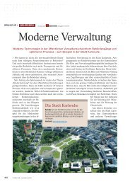 Moderne Verwaltung - PROFI Engineering Systems AG