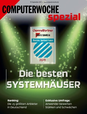 Bestes Systemhaus 2011 - PROFI Engineering Systems AG