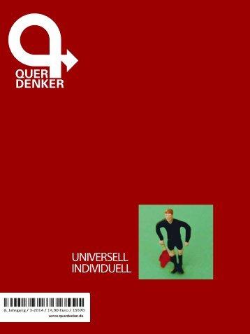 Querdenker-Magazin: Universell individuell