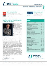 PROFI news - PROFI Engineering Systems AG