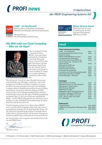 PROFI news - PROFI Engineering Systems AG