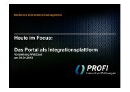 Portal - PROFI Engineering Systems AG